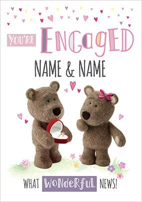 Barley Bear - You're Engaged Personalised Card