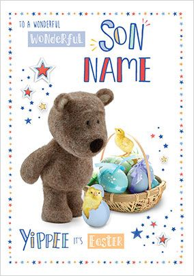 Barley Bear - Son Easter personalised Card