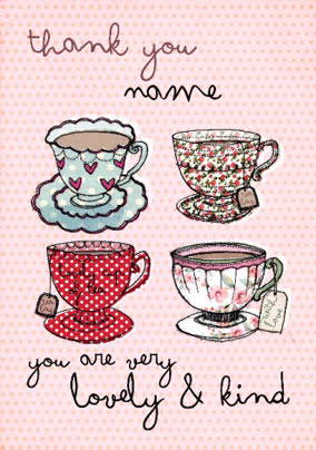 Just A Note - Thank You Cups
