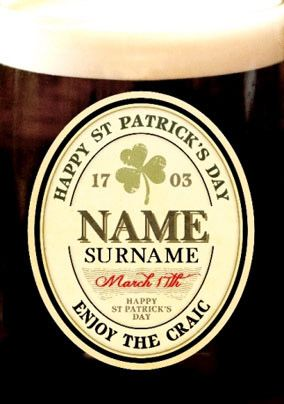 Love Labels - St Paddy's Stout
