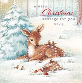 Christmas Message Personalised Card