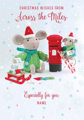 Across The Miles Christmas Wishes Personalised Card
