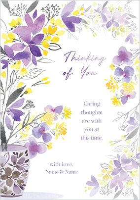 Caring Thoughts Personalised Card
