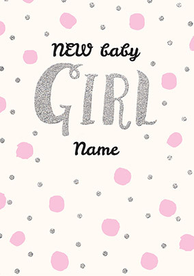 Baby Girl Personalised Card
