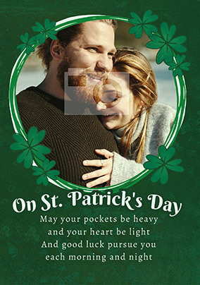 Happy St. Patrick's Photo Verse Card