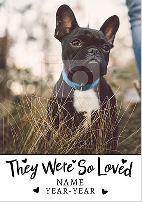 So Loved Pet Sympathy Photo Card