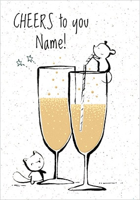 Cheers To You Personalised Card