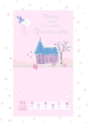 Granddaughter Christening Day Card