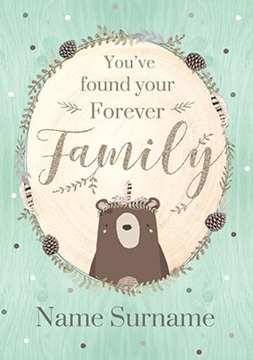Your Forever Family Boy's Personalised Card
