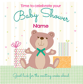 Cute Characters - Baby Shower Invitation Teddy Bear