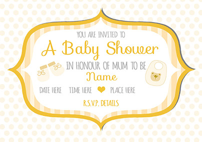 preview image is not found - Baby Shower Cards