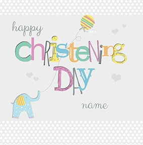 Happy Christening Day Personalised Card