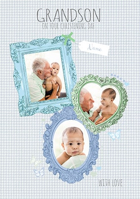 Grandson On Your Christening Day Card