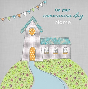 Communion Day Personalised Card