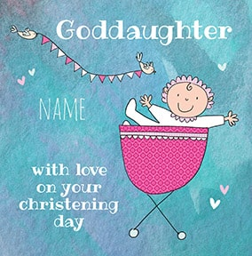 Goddaughter Christening Day Card