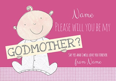 Be My Godmother Personalised Card