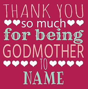 Thank You For Being Godmother Card