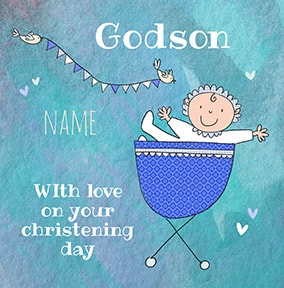 Godson On Your Christening Card