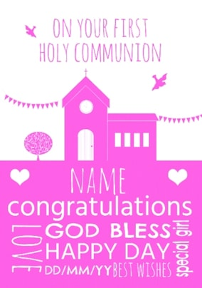 Your First Holy Communion Personalised Card