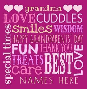Grandma Personalised Grandparent's Day Card