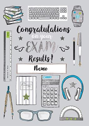 Congrats On Your Exam Results Personalised Card