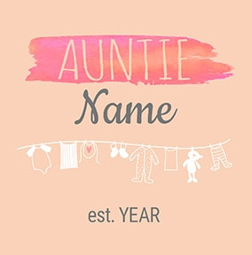 Baby Washing Line You are going to be an Auntie Card