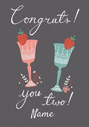 Congrats You Two Personalised Card