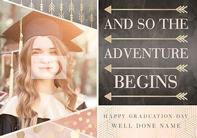 All That Shimmers Photo Upload Graduation Card - Adventure