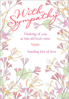 Amore - Sympathy Card Sending Lots of Love