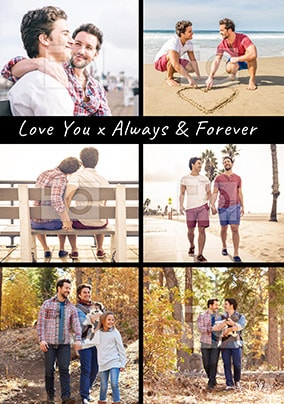Always & Forever Multi Photo Anniversary Card
