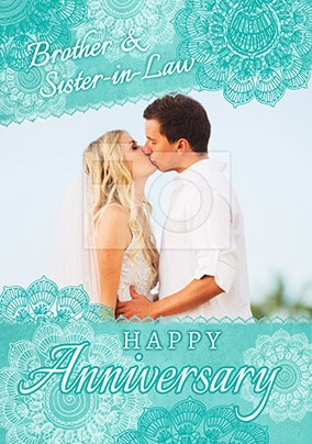 Brother & Sister-in-Law Photo Anniversary Card