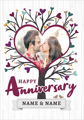 Love Tree Photo Anniversary Card