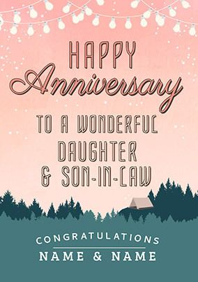 Into the Wild Daughter and Son-in-Law Anniversary personalised Card