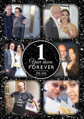 1 year down forever to go 1st anniversary gift mens socks groom wedding any year