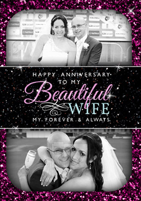 The Stars and the Sky - Anniversary Card Beautiful Wife Photo Upload