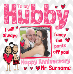 Yours Truly - Anniversary Card Hubby Photo Upload