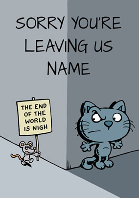 Cattitude - Leaving Card The End is Nigh