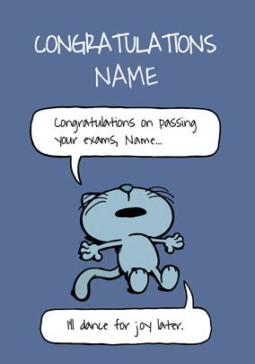 Cattitude - Congratulations on passing your Exams