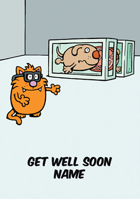 Learn to Speak Cat - Get Well Soon Card Damien Hirst