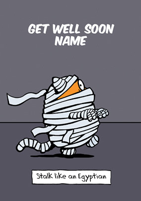 Learn to Speak Cat - Get Well Soon Card Like an Egyptian