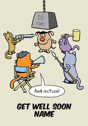 Learn to Speak Cat - Get Well Soon Card 10 Ton Action