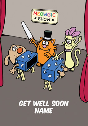 Learn to Speak Cat - Get Well Soon Card Meowgic Show