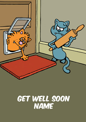Learn to Speak Cat - Get Well Soon Card Rolling Pin