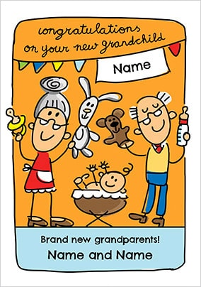 new grandparents grandparents to be cards funky pigeon
