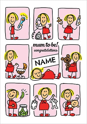 Babette - Mum To Be Personalised Card