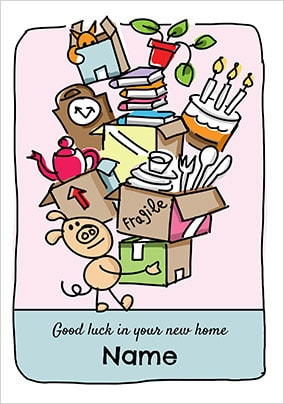 Babette - Good Luck In Your New Home Personalised Card