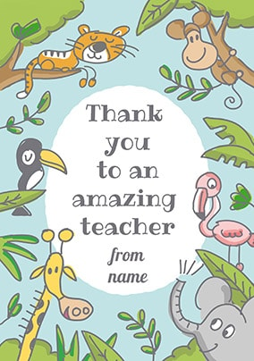 Babette - Thank You To An Amazing Teacher Personalised Card