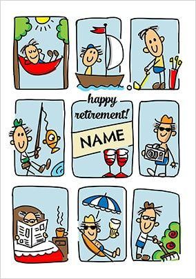 Babette - Happy Retirement Male Personalised Card