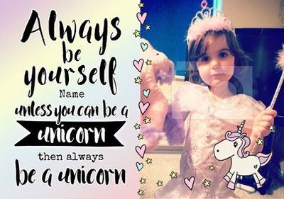 Always Be - Birthday Card Be a Unicorn Photo Upload