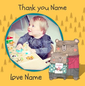 I Love Bear Hugs - Thank You Teaching Assistant Card Photo Upload